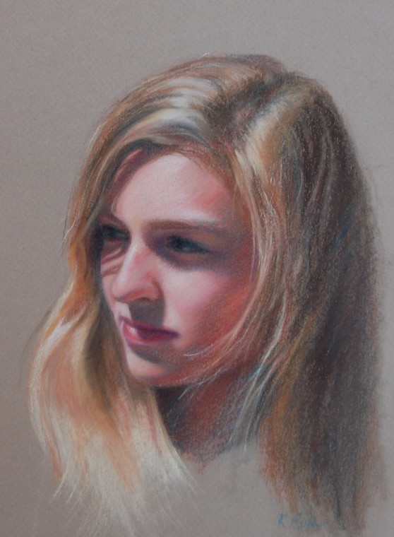 Bridget - 8 by 10 chalk