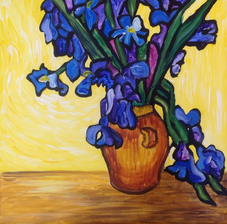 Irises - manner of Van Gogh