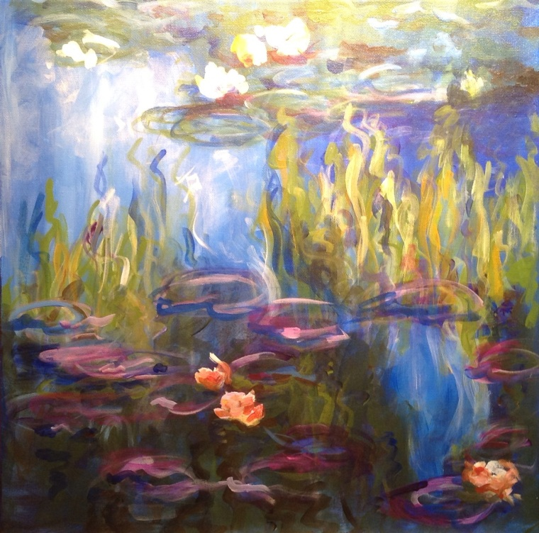 Water Lilies - Manner of Monet