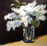 Lilacs - in the manner of Manet