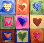 Hearts - inspired by Jim Dine